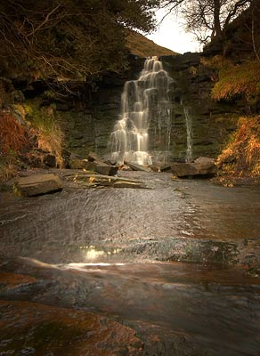 Waterfall at Middle Black Clough