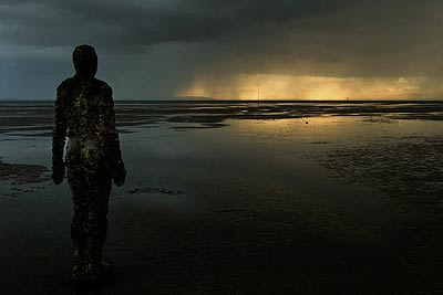 Antony Gormley's Another Place statues on Crosby Beach