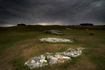 Arbor Low stone circle in Derbyshire