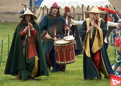 Musician at Knights Tournament at Bolsover Castle