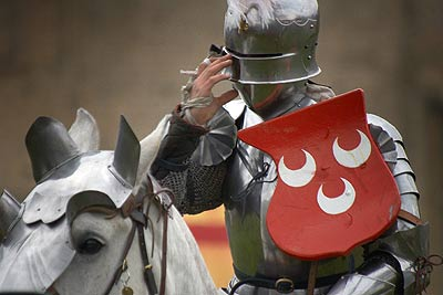 Sir Thomas Heron for South, Knights Tournament at Bolsover Castle