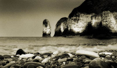 Low angle of coastline taken at Flamborough