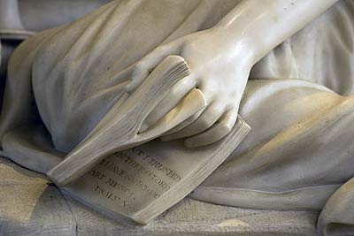 Close up of marble sculpture